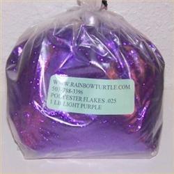 Glitter Polyester Flakes Bright Purple 1-lb P7425HX
