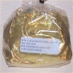 Glitter Polyester Flakes Light Gold 1-lb P0325HX