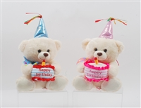 "8"" BIRTHDAY BEAR WITH HAPPY BIRTHDAY SONG (2)"