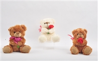 "6"" OLIVIA BEAR SET WITH ROSE (4)"