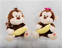"18""  CONNOR MONKEY W/ BANANA W/ SOUNDS(2)"
