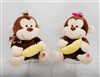 "14"" CONNOR MONKEY W/ BANANA W/ SOUNDS(2)"