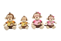 "11.5"" GABRIEL MONKEY W/ GLASSES(2)"