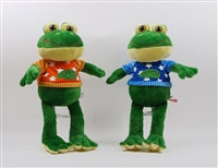 "13.5""CARSON SITTING, 20"" STANDING LUKE FROG  WITH T'SHIRT(2)"
