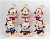 "9""  SEE, HEAR,SPEAK NO EVIL BIRTHDAY MONKEY WITH MUSIC (6)"