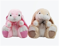 "10.5"" PINK AND BEIGE BUNNY ASST  (2)"