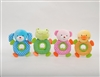 "7"" SHAKE A BELLY ANIMALS RATTLE WITH TEETHER (4)"