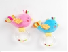 "7"" PINK & BLUE BIRDS BABY RATTLE AND SQUEAKY (2)"