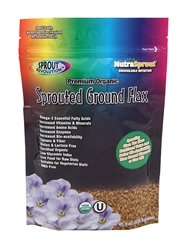 The Original Golden Organic Sprouted Flax Seed Powder in 8 oz. bag.