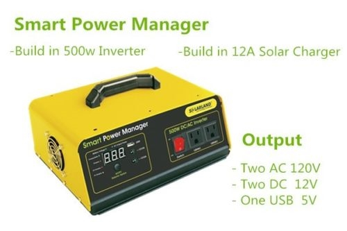 Rv Solar Battery Charger System : W solar panel power system inverter controller iphone