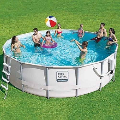 15 x 48 proseries metal frame round pool liner fits both oval and oblong frame pieces accepts sfs filtration systems only