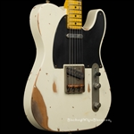 Nash Guitars T-52 Heavy Distress in Olympic White