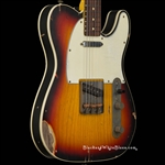Nash Guitars TC-63 Heavy Distress in 3-Tone Sunburst