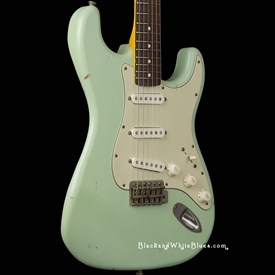 Nash Guitars S-63 Light Distress in Surf Green