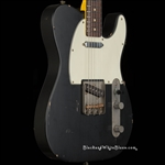 Nash Guitars T-63 Light Distress in Black - Black and White Blues Guitar Shop