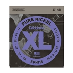 D'Addario EPN115 Pure Nickel, Blues/Jazz Rock, 11-48 Electric Strings