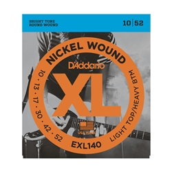 D'Addario EXL140 Nickel Wound, Light Top/Heavy Bottom, 10-52 Electric Strings