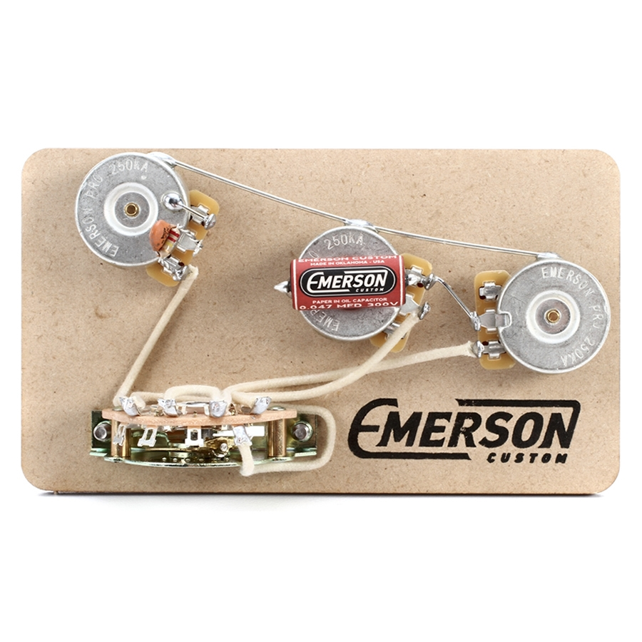 Emerson Guitar Overdrive Wiring Diagram Completed Diagrams Apple Custom Strat 5 Way Pre Wired Kit 250k Ohm Pots 0 047uf