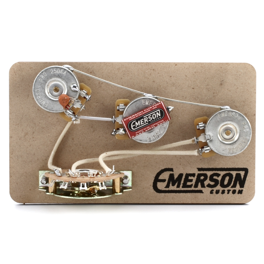 Emerson Custom Strat 5-Way Blender Pre-Wired Kit (250K Ohm Pots &