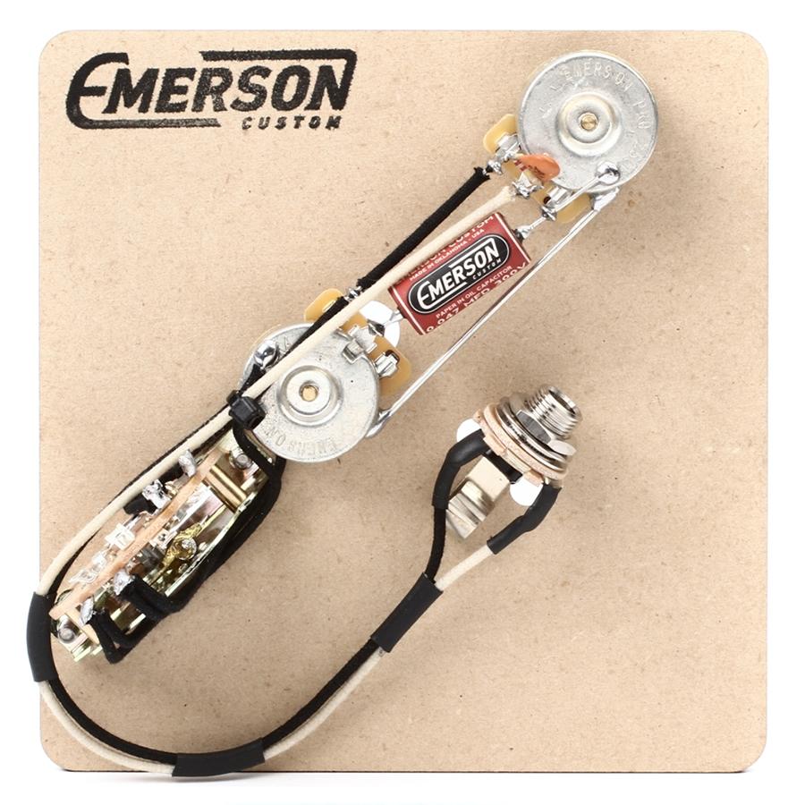 Emerson Custom Tele 3 Way Pre Wired Kit 250k Ohm Pots 0047uf Guitar Prewired Wiring Harness Pickup Volume Tone 3way Switch Jack 0047