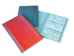 Lenticular business card file with custom color changing