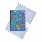 Lenticular business card holder with multi colored tropical fish, depth