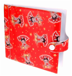 Lenticular CD case with custom design, Betty Boop with stars and red background, flip