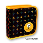 Lenticular CD case with yellow, red, and green butterflies on a black background, color changing flip