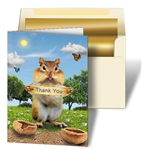 Personalized 3D Lenticular Thank You Cards Image with Chipmunk
