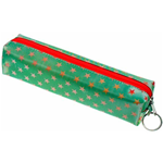 Lenticular pencil case with white and red stars Image
