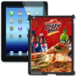 Lenticular iPad Skin for iPad 2 and iPad 3, Black, with Pizza Hut Image Lantor Ltd