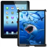 Lenticular iPad Skin for iPad 2 and iPad 3, Black, with Shark Image Lantor Ltd
