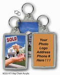 Lenticular acrylic key chain with real estate Images