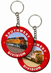 Lenticular foam key chain with custom design, Chicago Blackhawks indian and tomahawks, flip