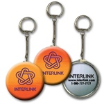 Lenticular key chain with yellow and orange gradient, color changing with