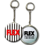 Lenticular key chain with black and white stripes, animation
