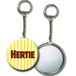 Lenticular key chain with yellow and white stripes, animation