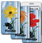 Lenticular luggage tag with yellow flower Prints