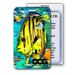 Lenticular luggage tag with tropical Hawaiian angel Printing