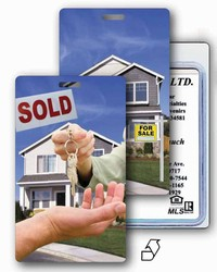 Lenticular luggage tag with real estate Images