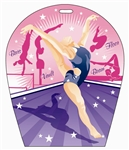 Lenticular sports luggage tag with arch shaped, Gymnastics Sports 3d effect