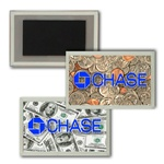 Lenticular Magnet in Acrylic Frame USA American money, currency, dollars and coins, flip