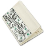 Lenticular magnetic clip with USA currency, dollars and coins, flip