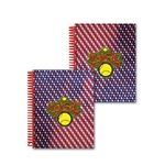 Lenticular 4 x 5 inches 3D notebook with American flag stars and stripes, red, white, and blue, color changing flip