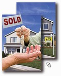 3D Lenticular Real Estate Postcards, 4 x 6 inches, with Lenticular Flip Sales and Sold , Stock Design, item# PC4x6-971