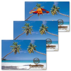Lenticular 4 by 6 inch Postcard, Tropical Hawiian Beach Stock Design, item# PC4x6-204