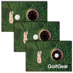 Lenticular Advertising Promotional Postcards, 4 x 6 inch, Golf Putter Lenticular Animation