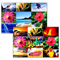 Lenticular Direct Mailer Examples, 4 x 6 , Tropical Hawaiian Photograph Collage