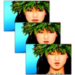Lenticular Hologram Postcards, 6 x 4 inch, Lenticular Hawaiian Girl Animation Winking Girl
