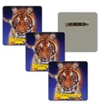 Lenticular Lapel Pin with custom design, Discover Channel Bengal tiger winks its mysical eyes, animation